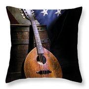 Mandolin America Throw Pillow