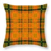 Mandoxocco-wallpaper-orange-green Throw Pillow