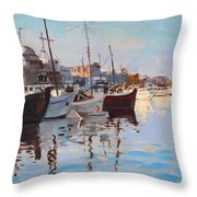 Mandraqi Rhodes Greece Throw Pillow by Ylli Haruni