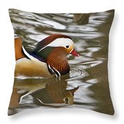 Mandrin Duck With A Purpose Throw Pillow