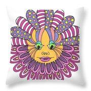 Mandy Flower Throw Pillow