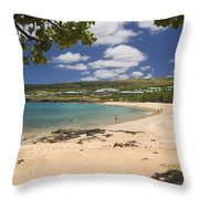 Manele Bay Throw Pillow
