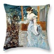 Manet: Cafe-concert, 1879 Throw Pillow