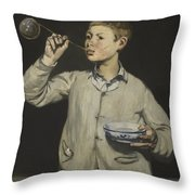 Manet Exhibition Throw Pillow
