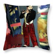 Manet In My World Throw Pillow