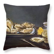 Manet: Oysters, 1862 Throw Pillow by Granger