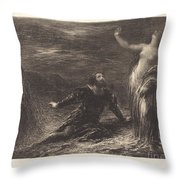 Manfred And Astarte (2nd Plate) Throw Pillow