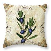 Mangia Olives Throw Pillow