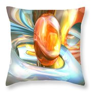 Mango And Cream Abstract Throw Pillow