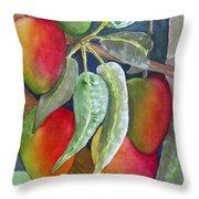 Mango One Throw Pillow