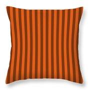 Mango Orange Striped Pattern Design Throw Pillow