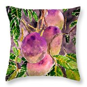 Mango Tree Fruit Throw Pillow