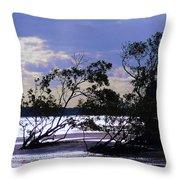 Mangrove Silhouettes Throw Pillow