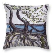 Mangroves Throw Pillow