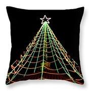 Manhattan Beach Christmas Throw Pillow