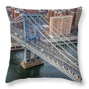 Manhattan Bridge  6413  Throw Pillow