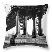 Manhattan Bridge, Afternoon Throw Pillow by Gary Heller