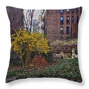 Manhattan Community Garden Throw Pillow