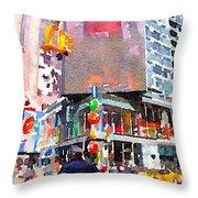 Manhattan Crossroads Throw Pillow