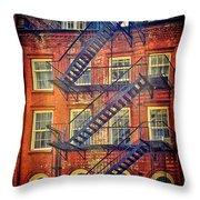 Manhattan Facade Throw Pillow