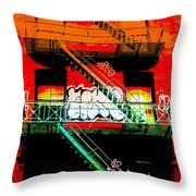 Manhattan Fire Escape Throw Pillow
