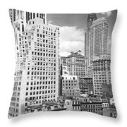 Manhattan From Madison Avenue Throw Pillow