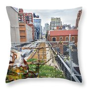 Manhattan High Line Throw Pillow