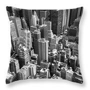 Manhattan In Monochrome. Throw Pillow