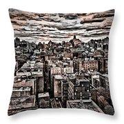 Manhattan Landscape Throw Pillow