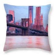Manhattan -  New York City - Usa Throw Pillow