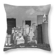 Manhattan New York Throw Pillow