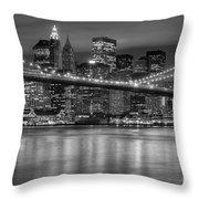 Manhattan Night Skyline Iv Throw Pillow