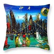 Manhattan Ny Throw Pillow