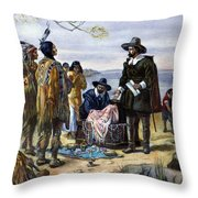 Manhattan Purchase, 1626 Throw Pillow