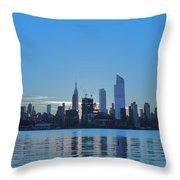 Manhattan Reflections  Throw Pillow