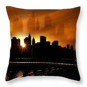 Manhattan Silhouette Throw Pillow