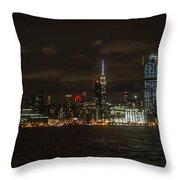 Manhattan Skyline 5 Throw Pillow