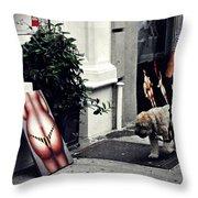 Manhattan Street Art Throw Pillow