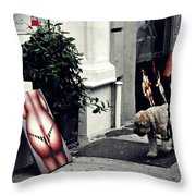 Manhattan Street Art Throw Pillow
