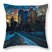 Manhattan Sunset Throw Pillow