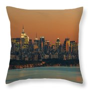 Manhattan Twilight I Throw Pillow