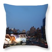 Manhattan View From The High Line Throw Pillow