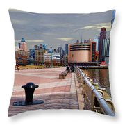 Manhattan West Side Panorama Throw Pillow