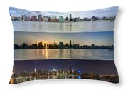 Manhattanhenge View From Across East River Throw Pillow