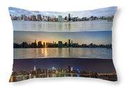 Manhattanhenge View From Across East River Throw Pillow by Sasha Karasev