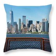 Manhatten Skyline Throw Pillow