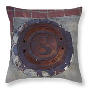 Manhole II Throw Pillow