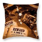 Manhunter - Sepia Throw Pillow
