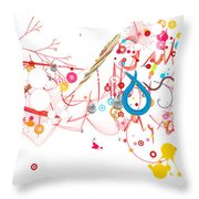 Mania Abstract Throw Pillow