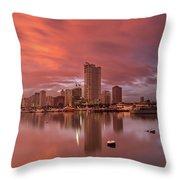 Manila At Sunset Throw Pillow